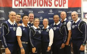 2019 NORCECA Champions Cup officials.