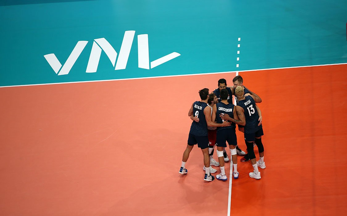 U.S. Men's National Team competing at VNL
