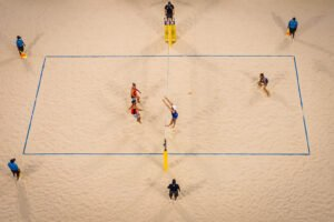 The 2021 Katara Cup men's bronze medal match from above