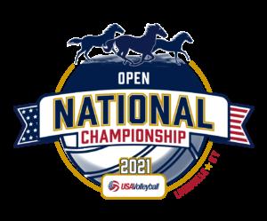 2021 USAV Open National Championship logo.