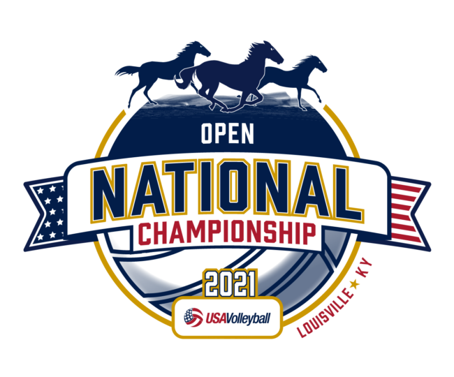 2021 USAV Open National Championship logo.