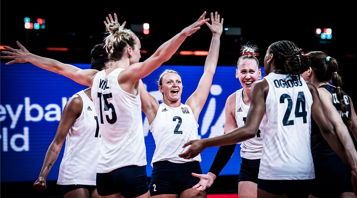 U.S. Women's National Team competing at VNL