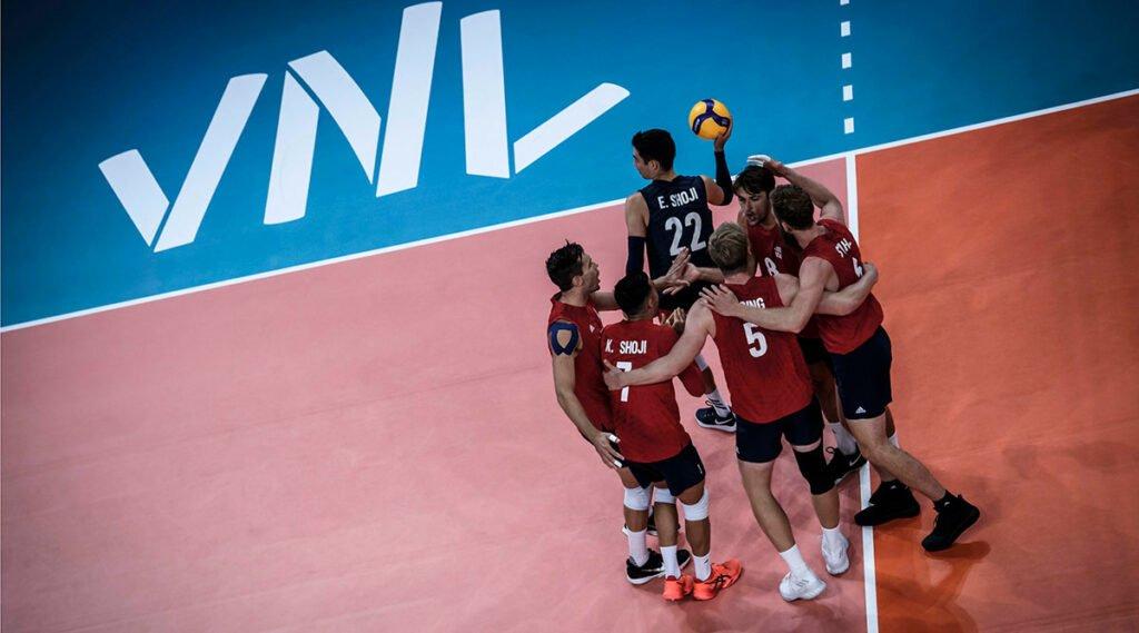 U.S. Men Play Hard but Fall to France at VNL
