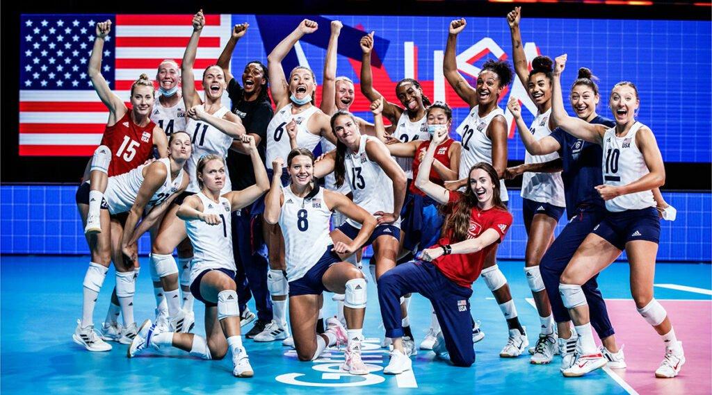 U.S. Women Thwart Russian Offense to Win at VNL