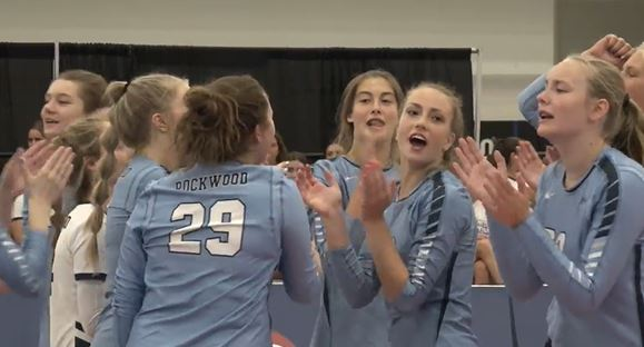 Girls cheering before play