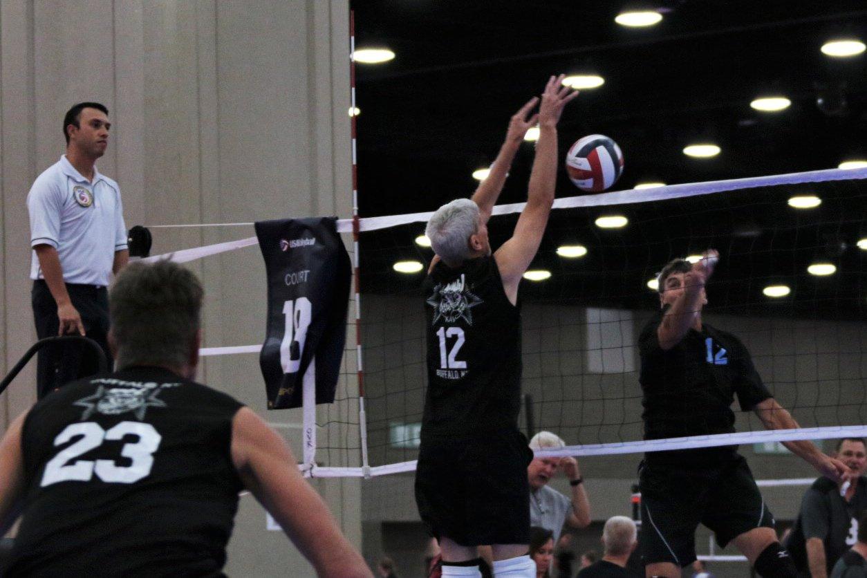 2021 USA Volleyball Open National Championship man blocking