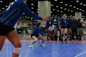 2021 USA Volleyball Open National Championship woman digging
