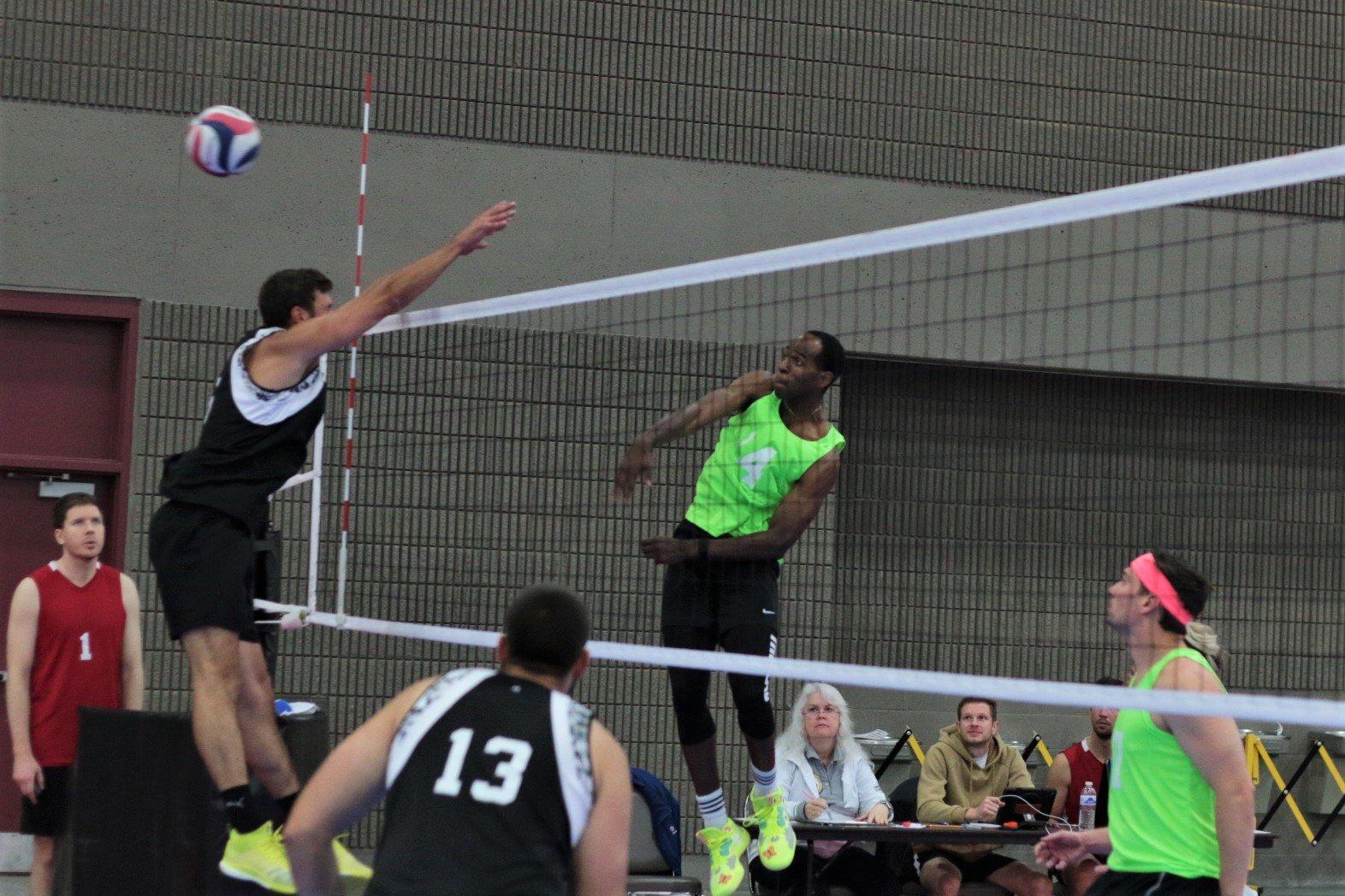 2021 USA Volleyball Open National Championship man hitting past block