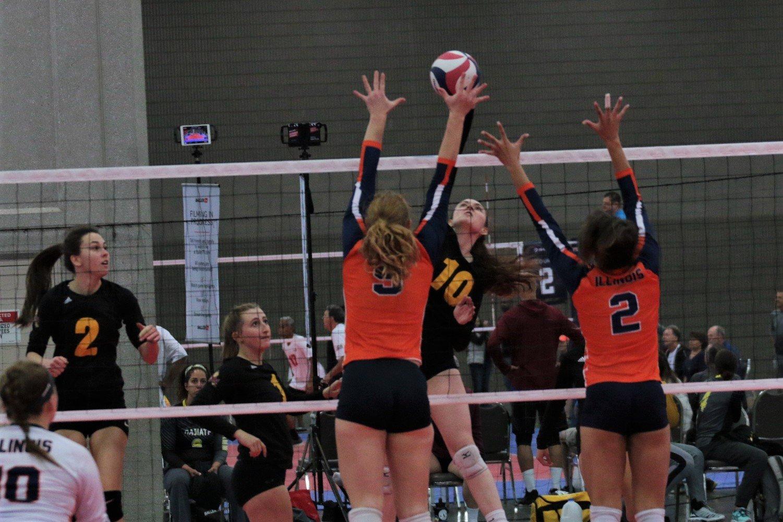 2021 USA Volleyball Open National Championship woman hitting block up
