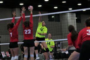 2021 USA Volleyball Open National Championship woman hitting