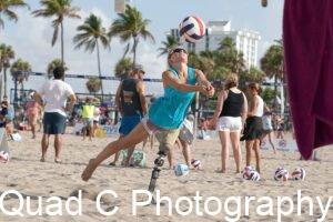 Girl playing Beach ParaVolley