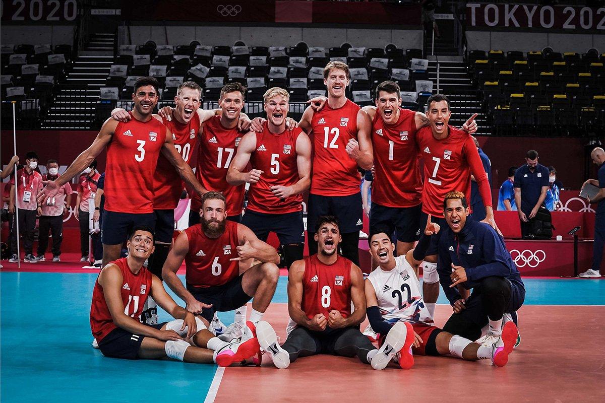 U.S. Men's Olympic Team vs. France team photo