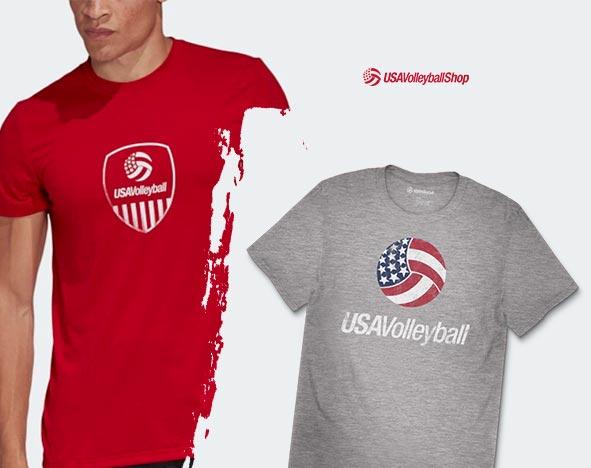 USA Volleyball shopo T-shirts