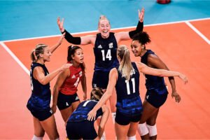 U.S. Women's Team celebrates