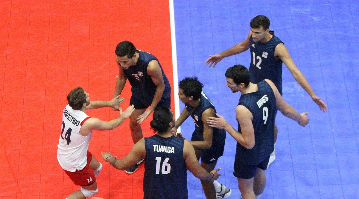 U.S. Men's National Team competing at NORCECA
