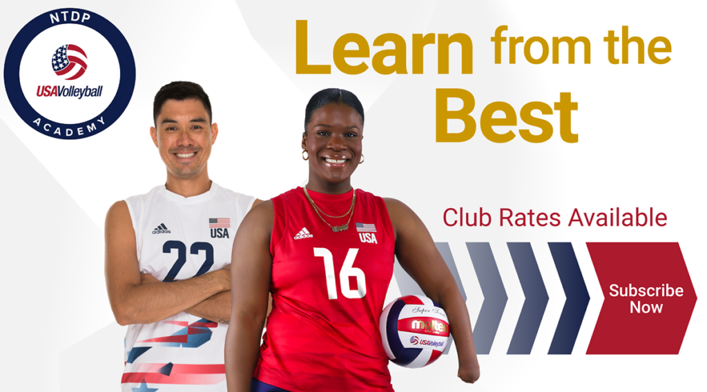 USA Volleyball Now Offering Club Rates for NTDP Academy